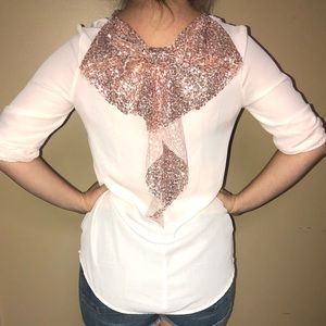 Rue21 pale pink blouse